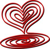 Heart Spiral — Stock Vector