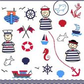 Digital Collage of Nautical — Stock Vector
