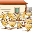 Chicken Coop - Stock Vector