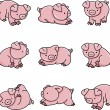 Baby Pigs — Stock Vector