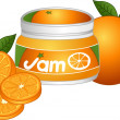 Orange Jam — Stock Vector