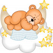 Stock Vector: Sweet Dreams Teddy Bear