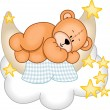 Sweet Dreams Teddy Bear — Stock Vector