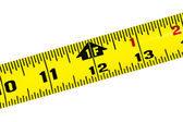 Tape Measure on White Background — Stock Photo