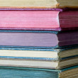 Stack of Old, Colorful Books - Stock Photo