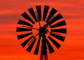 Windmill Sunrise — Stock Photo