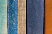 Colorful Worn Old Books — Stock Photo