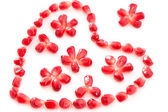 Decorative heart and flowers — Stock Photo