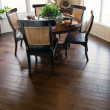 Beautiful home interior wood flooring - Stock Photo