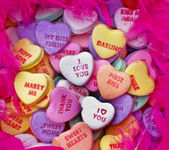 Valentine heart candy — Foto Stock