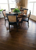 Beautiful home interior wood flooring — Stock Photo