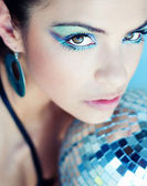 Piękna dziewczyna makijaż moda sztuka — Zdjęcie stockowe