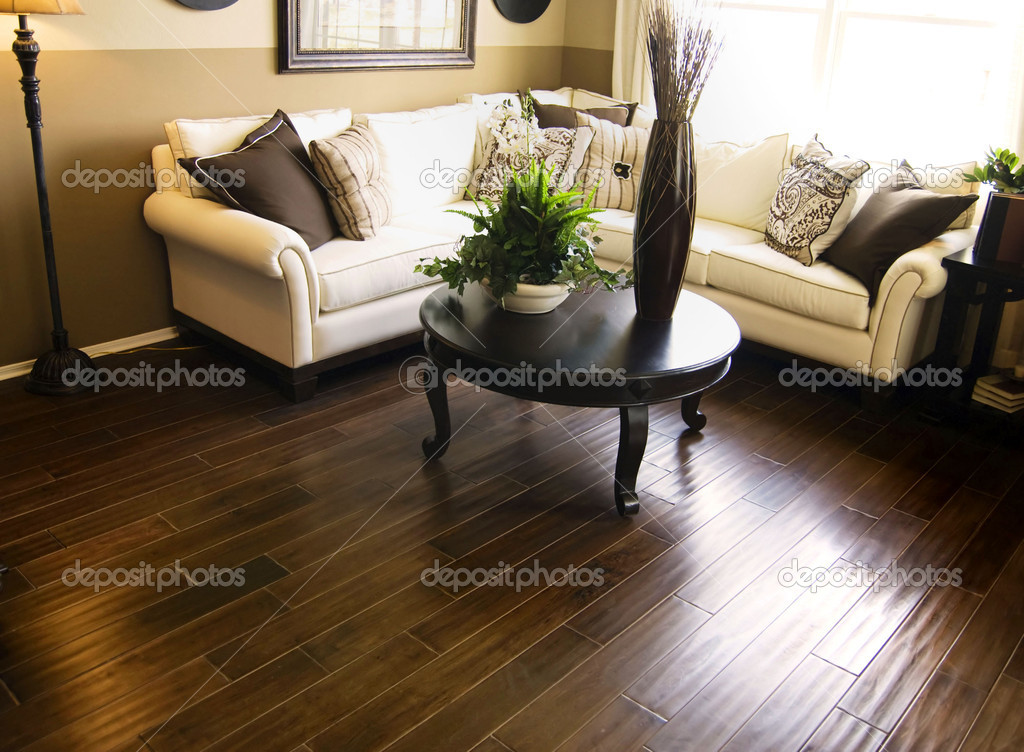 Hardwood flooring in modern living room | Stock Photo © Paul Hill #