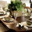 Dining table setting - Stock Photo