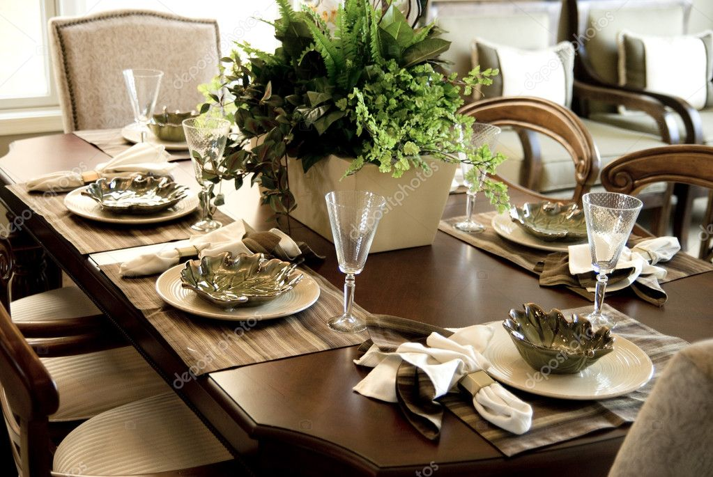 Dining table setting stock photo paulmhill 10631897 for How do i set a table