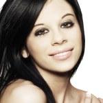 Close-up beautiful female face — Stock Photo