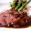 Gourmet fillet Mignon steak meat dish - Stock Photo