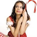 Christmas woman smiling — Stock Photo #8753285