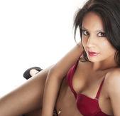 Nádherné krásné sexy žena v prádle. — Stock fotografie