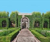 Beautiful landscaped garden venue — Stock Photo