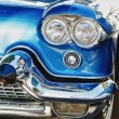 Retro car chrome detail - Stock Photo