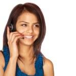 mujer ventas de servicio al cliente — Foto de Stock