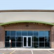 Modern commercial retail buildings on strip mall — Stock Photo