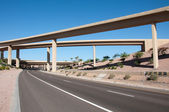Highway motorway viaduct interchange — Stock Photo