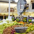 Grocery store scale with fruit and veg — Stock Photo #9302485