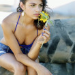 Beautiful latina teen country girl — Stock Photo