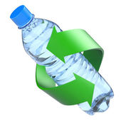 Plastic bottle recycling concept — Stock Photo