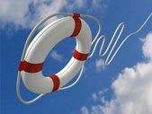 Help with lifebuoy — Stock Photo