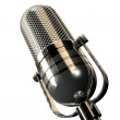 Round retro microphone - Stock Photo