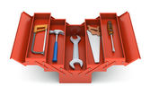 Tools in the toolbox — Stock Photo