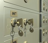 Safe deposit box — Stock Photo