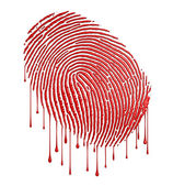 Bloody fingerprint — Stock Photo