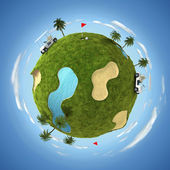 World of golf — Stock Photo