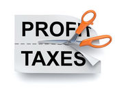 Profit and taxes — Stock Photo