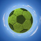 Grassy soccerball — Stock Photo