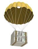 Golden Parachute — Stock Photo