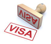 Rubber stamp - Visa — Stock Photo