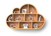 Cloud computing koncepce — Stock fotografie