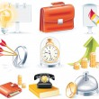Vector business icon set — Stock Vector