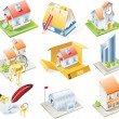 Royalty-Free Stock Vector Image: Vector real estate icon set