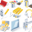 Vector home repair service icon set - Stock Vector