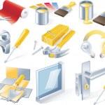 Vector home repair service icon set — Stock Vector