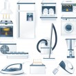 Vector detailed household appliances icons - Stockvectorbeeld