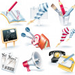 Vector advertising campaign icon set - Stok Vektr