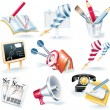 Vector advertising campaign icon set - Stock Vector