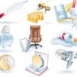 Royalty-Free Stock Vector Image: Vector business icons set